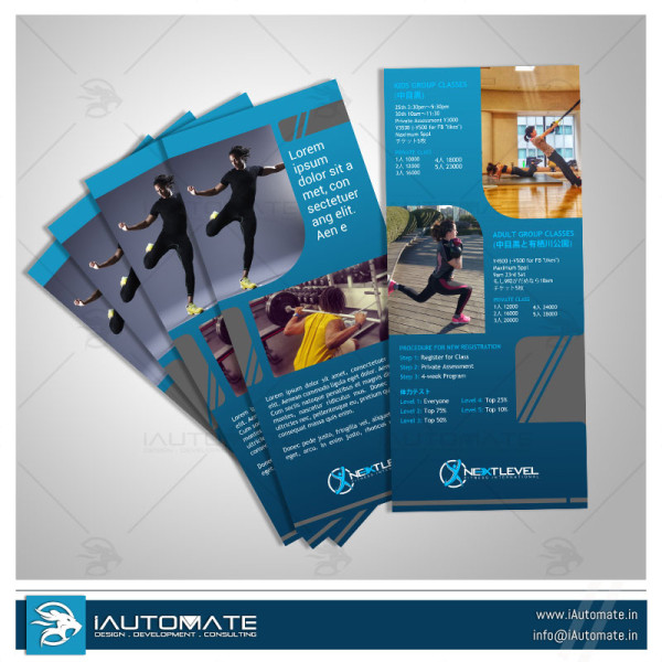 Fitness Unique Leaflet Design