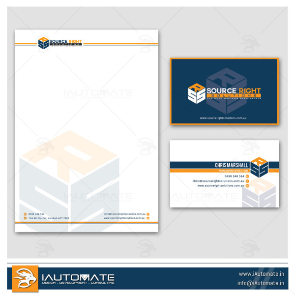 Marketing Company Office Stationary Design