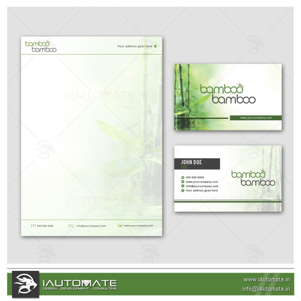 Bamboo Products Company Office stationary Design