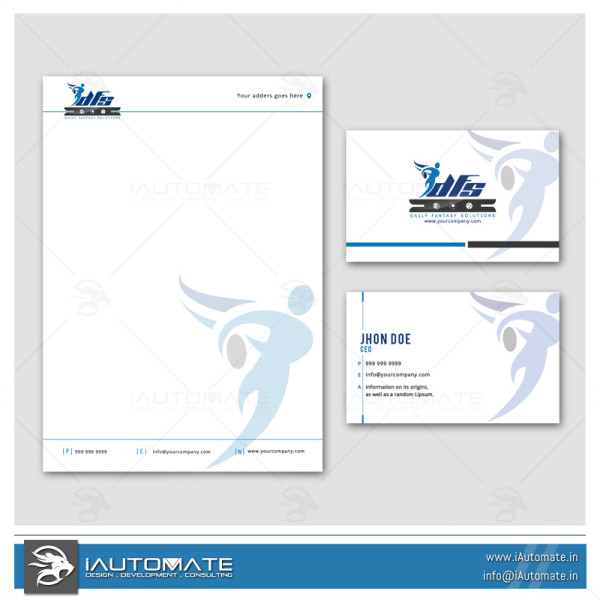 Fitness Company Office Stationary Design