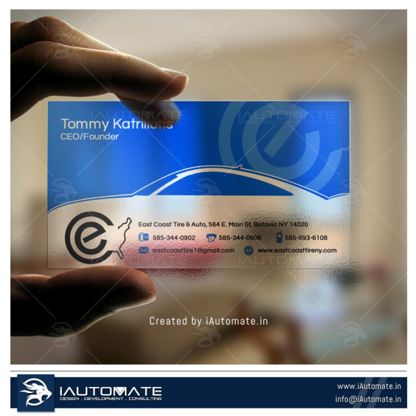 Automobile Company Business Card Design