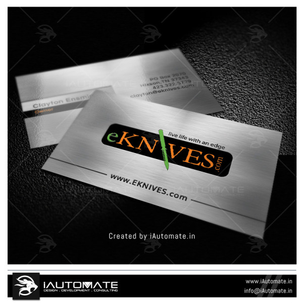 Knife Company Business Card Design