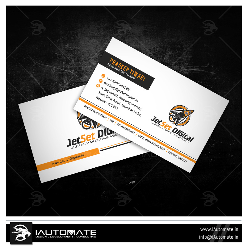 Business cards design portfolio iautomate marketing company business card design reheart Images