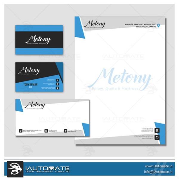 Handloom Company Office stationary design
