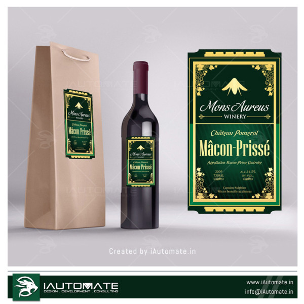 Red Wine Label design