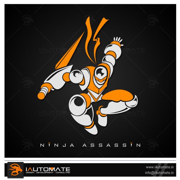 Robot Ninja Logo Design