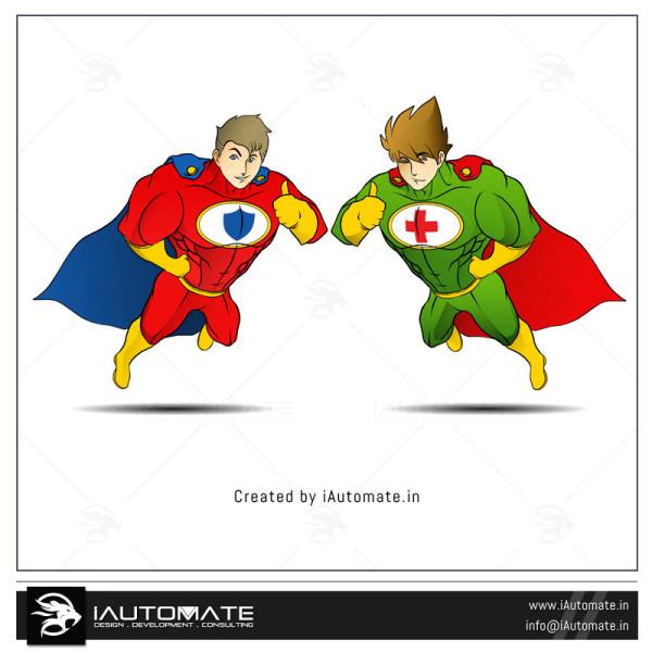 Superhero Mascot Logo Design
