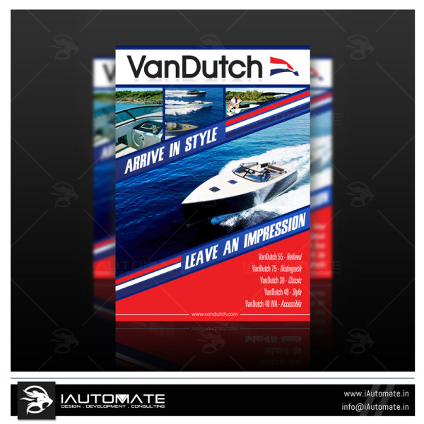 Luxury Poster design for Boat Company