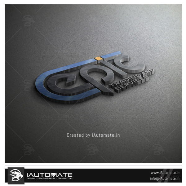 3D steel Logo design
