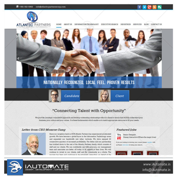 Attorney Website design & development