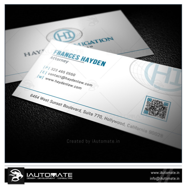 Attorny Business Card Design