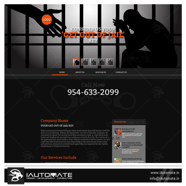 Bail Bonds Website design & dev