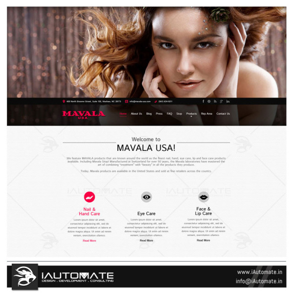Beauty Brand website design and development
