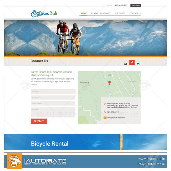 Bike rentals professional website designs
