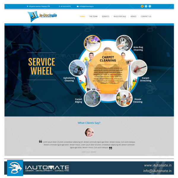 Carpet cleaning small business website design