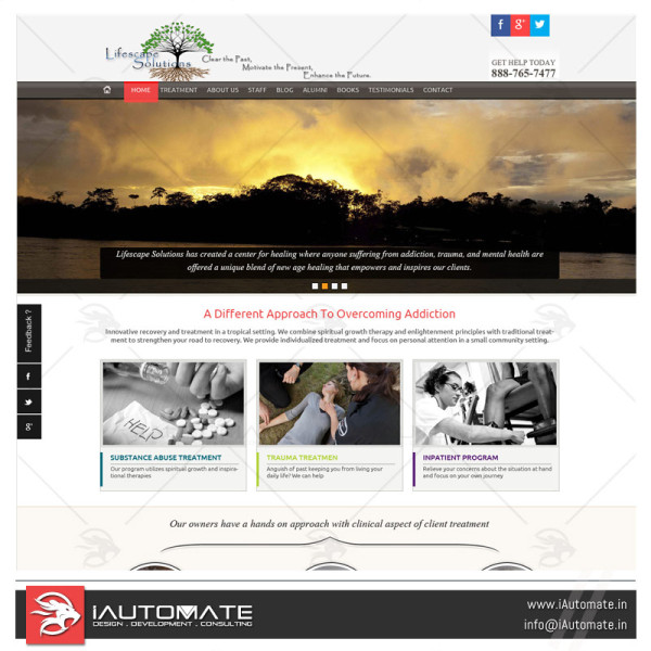 Drug Rehab Website design & dev