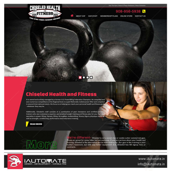 Fitness center GYM website web design