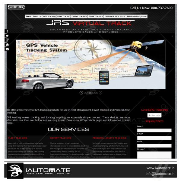 GPS Service Website Designing