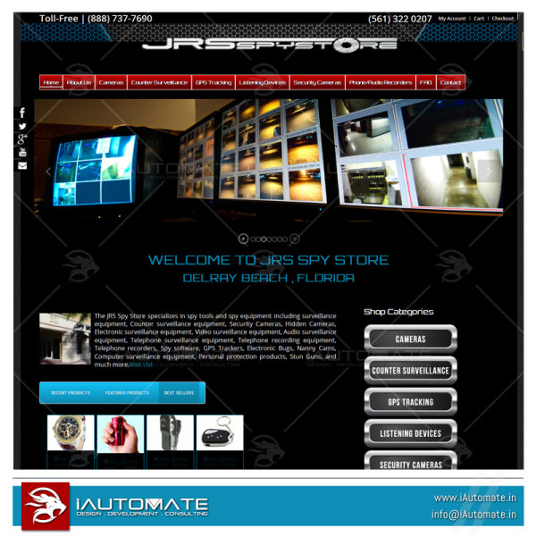 Gadgets ecommerce website development