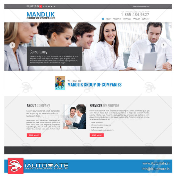 Group of companies business website