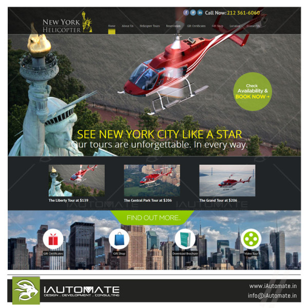 Helicopter Chopper Services website design