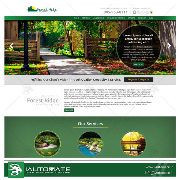 Landscaping and Pool service company website