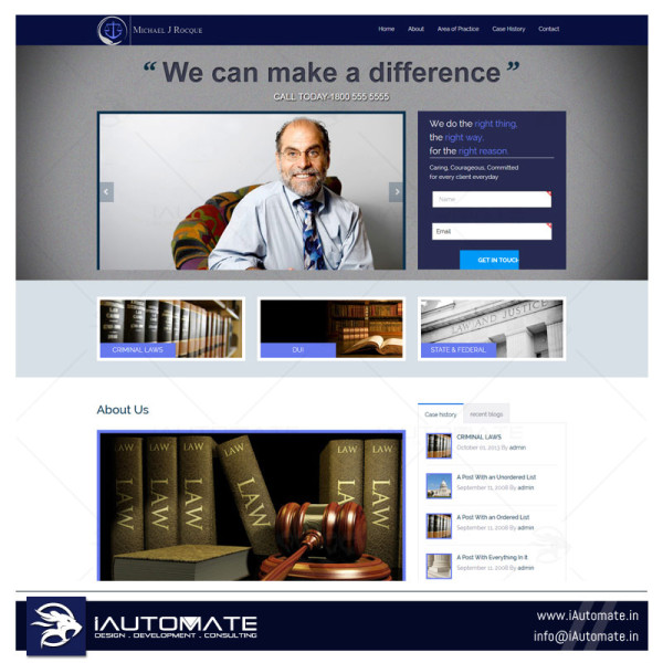 Law firm webdesign and development