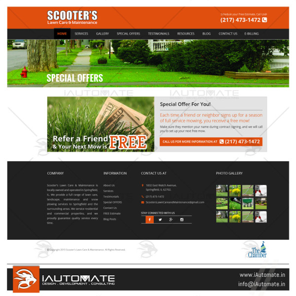 Lawn Care service company website design