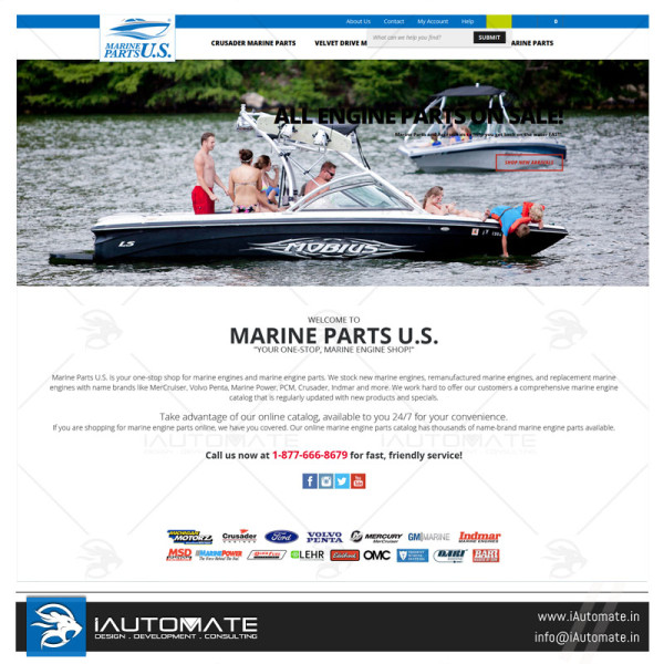 Marine Parts website design