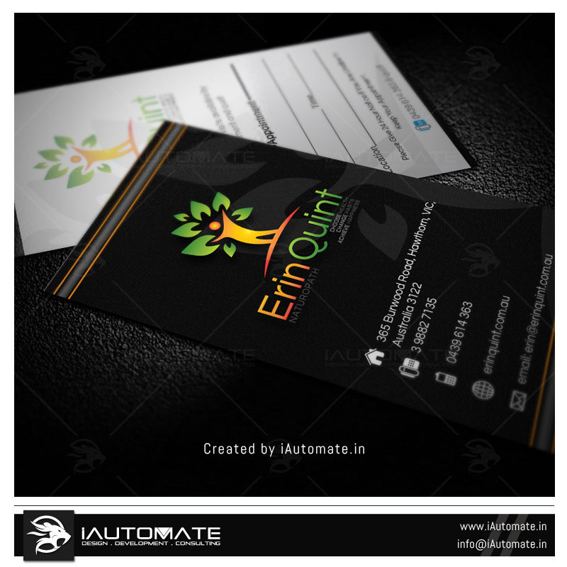 Naturopath Doctor Business card design | iAutomate