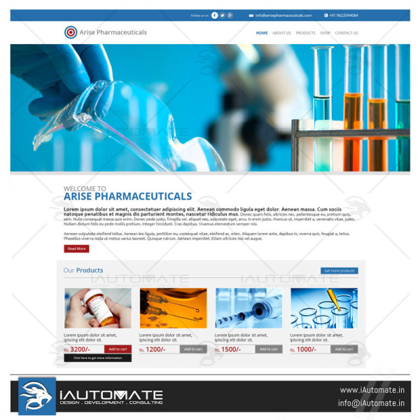 Pharma Company website design