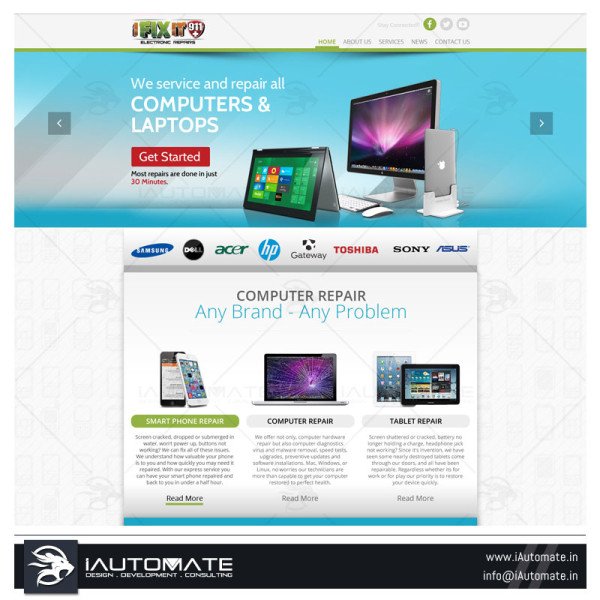 Phone repair small business web design