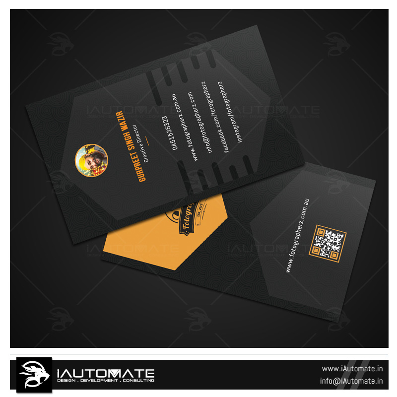 Business cards design portfolio iautomate photolab business card design reheart Gallery