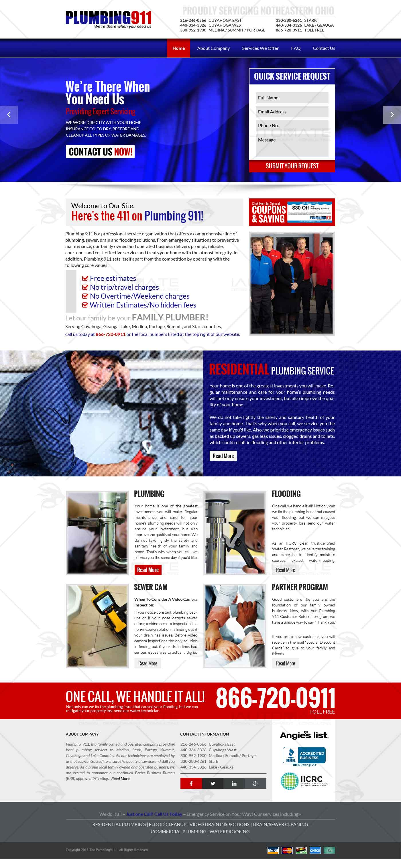 Plumbing Services web design and development | iAutomate