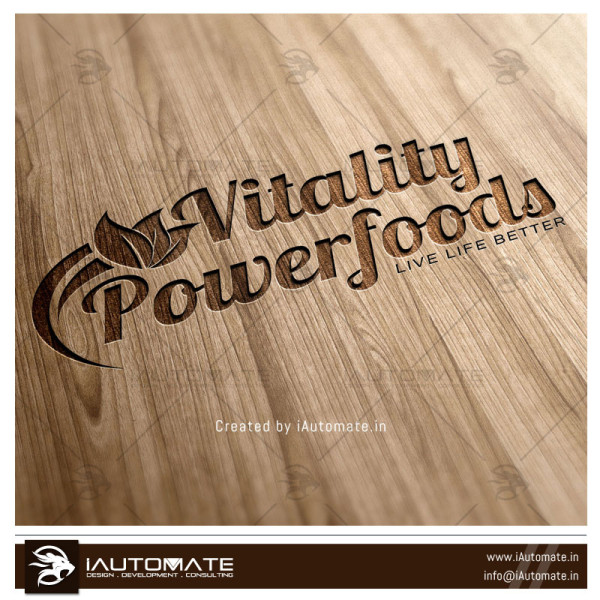 Powerfoods Logo design