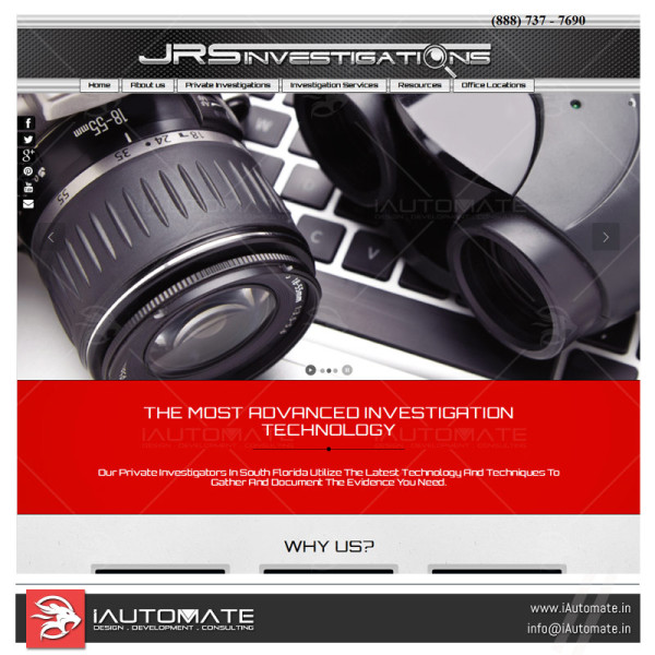Private detective Website design and dev