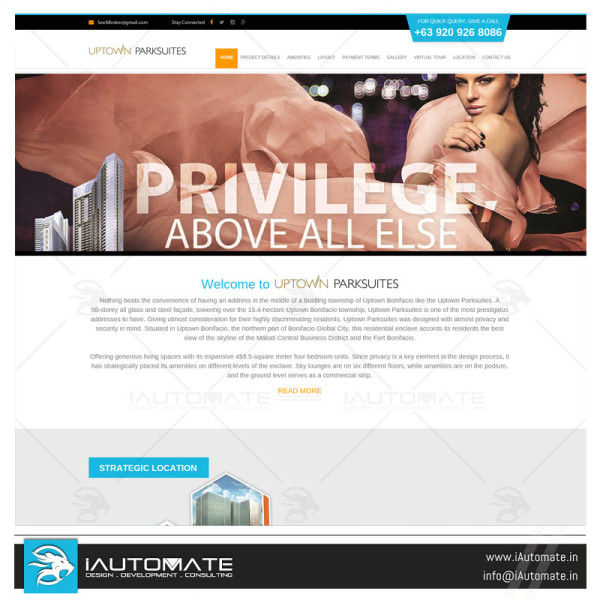 Realestate Township organization website design