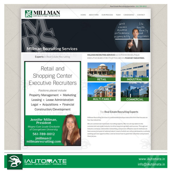 Recruiting Services Website design