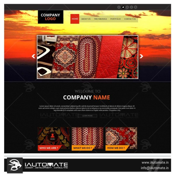 Rugs portfolio website