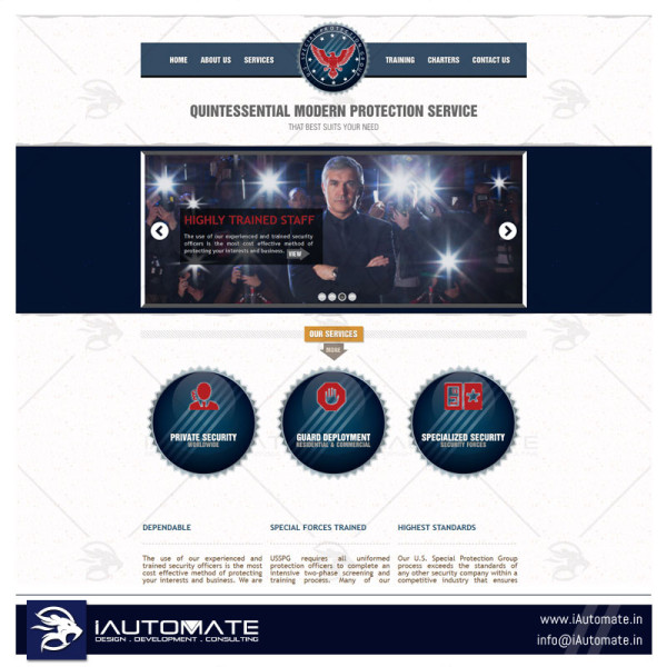 Security and Protection Website Design