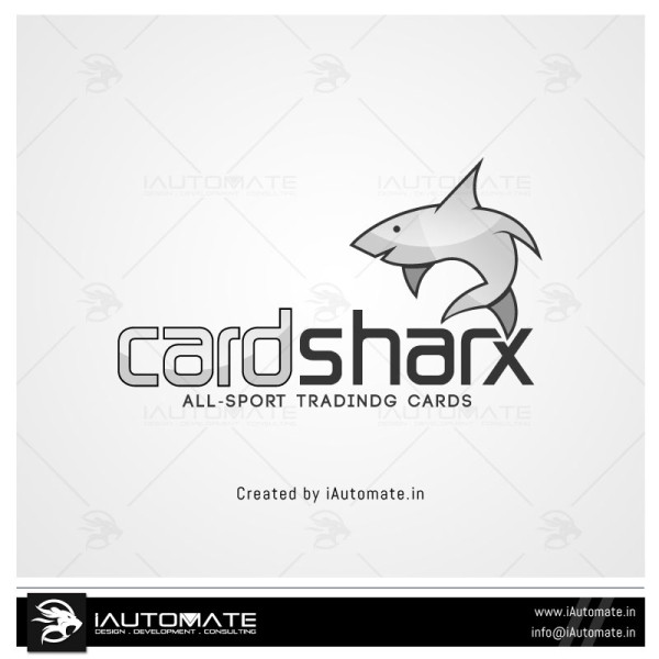 Shark Mascot Logo Design