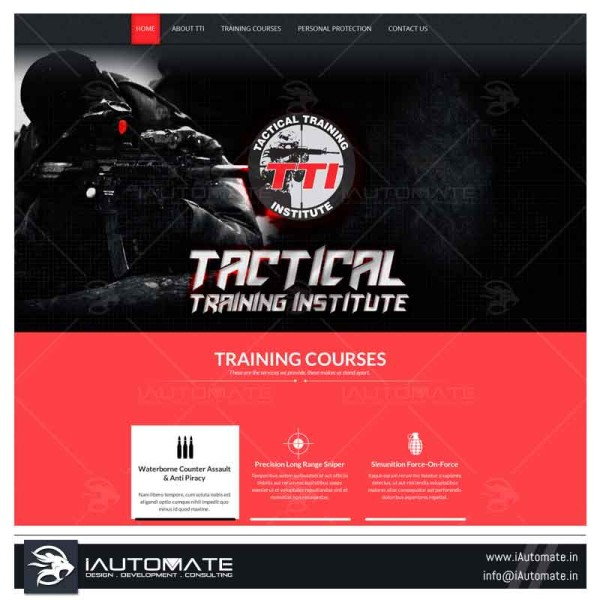 Tactical training website design and development