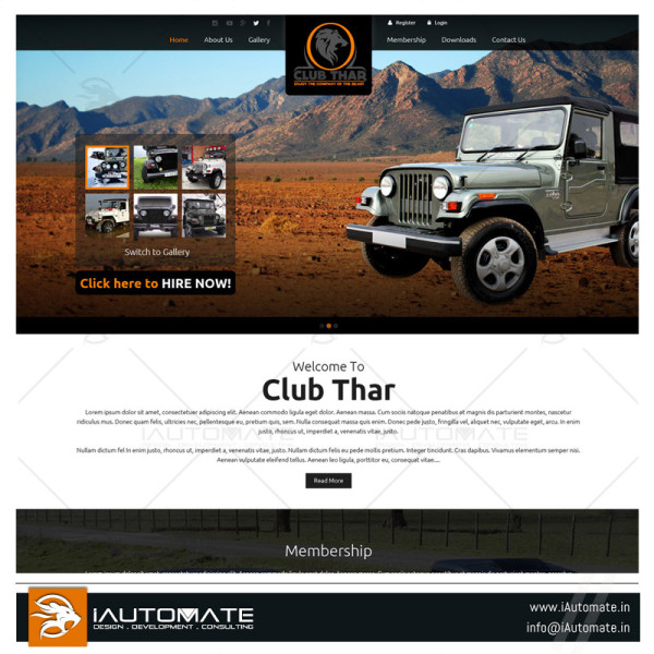 Bikers club website