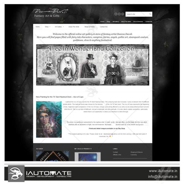 Creative artist online portfolio design