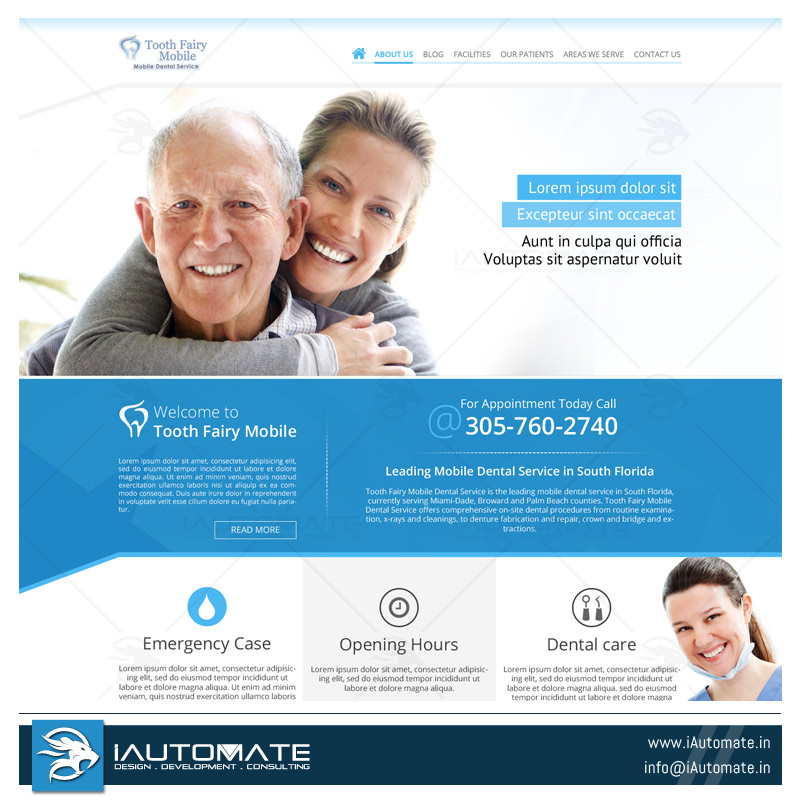 Dentist website template | iAutomate