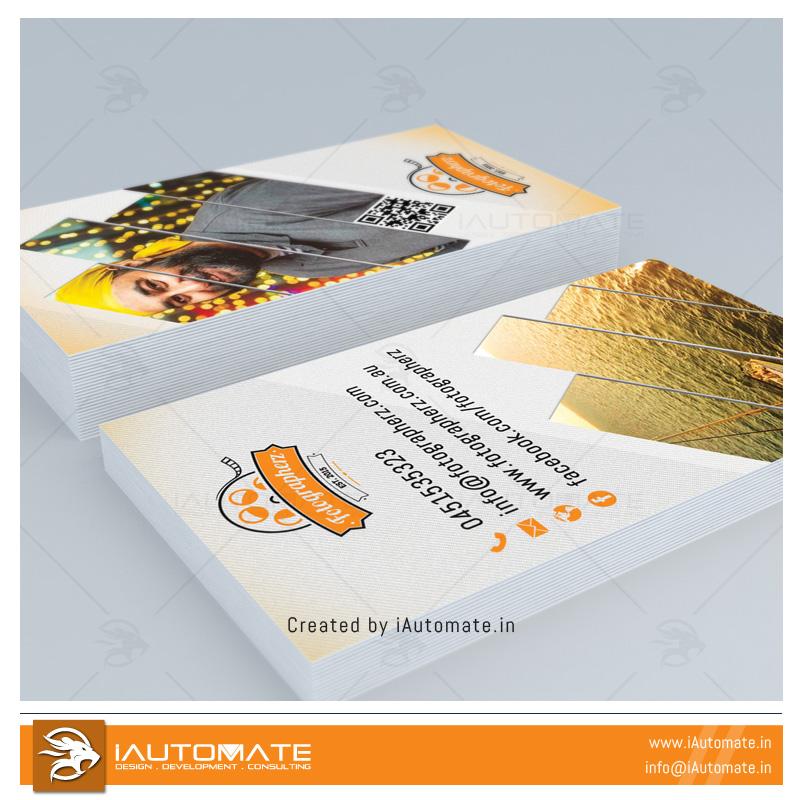 Photographer business card design   iAutomate