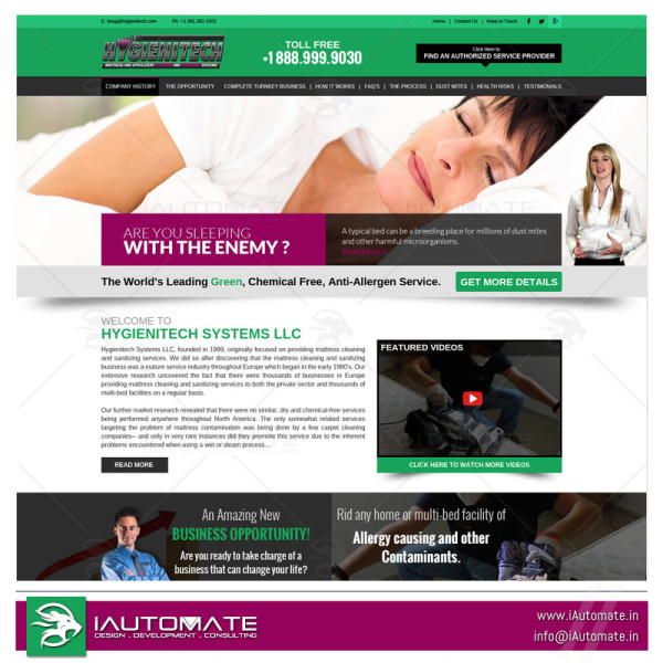 Product website template designing