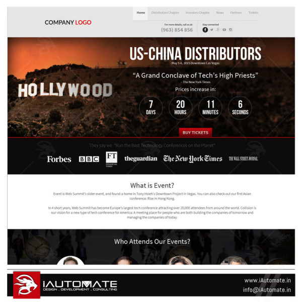 US china distributor website design