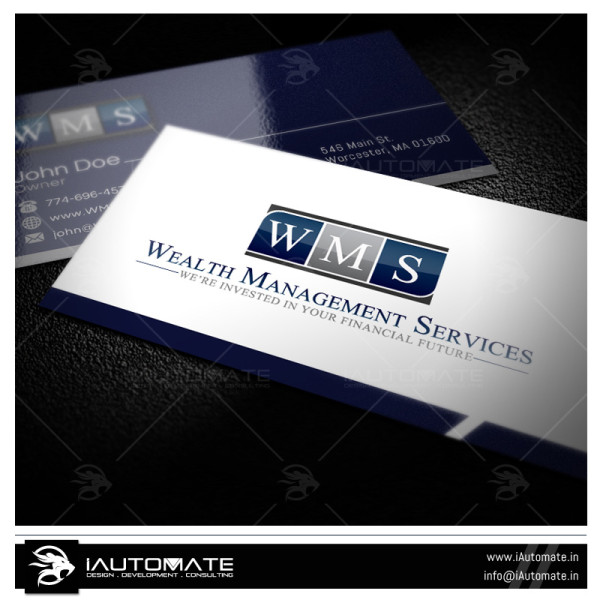 Wealth management service Business Card Design