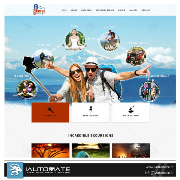 Adventure Sports Website Design